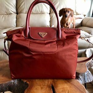 652134a4d7 Prada Bags - Prada Tessuto Saffiano Nylon Tote shoulder bag